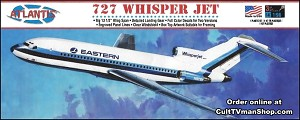 727 Whisper Jet Airliner Eastern Airlines - 1:96 - Aurora reissue from Atlantis