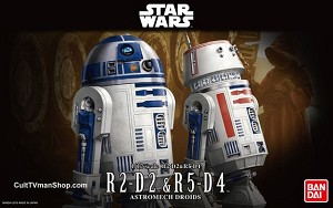 R2-D2 and R5-D4 1:12 scale kit from Bandai