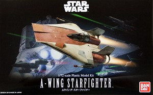 Star Wars A-Wing 1:72 scale kit from Bandai
