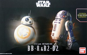 Force Awakens BB-8 and R2-D2 1:12 scale kit from Bandai