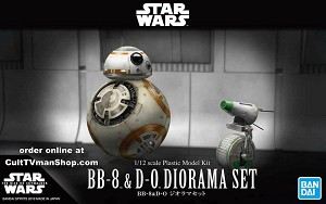 BB-8 with D-0 diorama - The Rise Skywalker - 1:12 - from Bandai