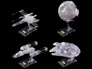 Star Wars Clear Spacecraft set from Bandai - PREORDER RESERVATION