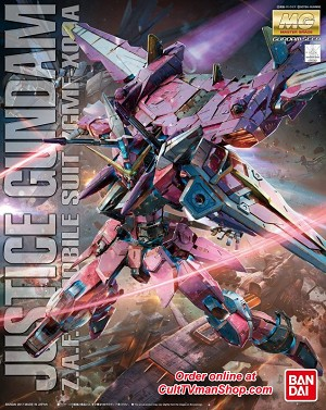 Justice Gundam Z.A.F.T Mobile Suit ZGMF-X09A - Gundam Seed - MG 1:100 scale from Bandai