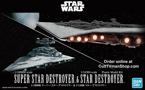 Super Star Destroyer and Star Destroyer set  from Bandai