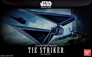 Rogue One TIE Striker 1:72 scale kit from Bandai
