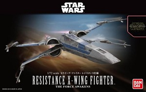 Force Awakens Resistance X-Wing 1:72 scale kit from Bandai