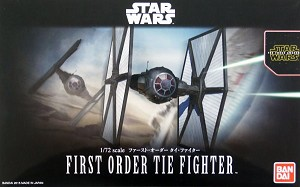 Force Awakens First Order TIE Fighter 1:72 scale kit from Bandai