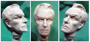 Vincent Price head 1:13 scale  from Dedham Pond Designs