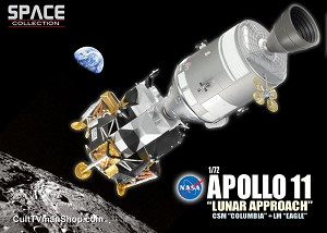Apollo 11 Lunar Approach Columbia and Eagle 1:72 model kit from Dragon Models