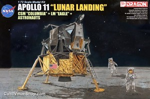 Apollo 11 Lunar Landing Columbia and Eagle 1:72 model kit from Dragon Models  - PREORDER RESERVATION