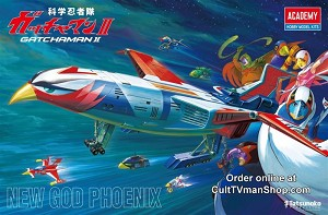 Gatchaman II: New God Phoenix with LEDs from Academy