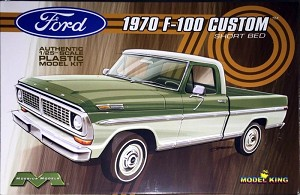 1970 Ford F-100 Custom Short Bed Pickup from Model King/Moebius