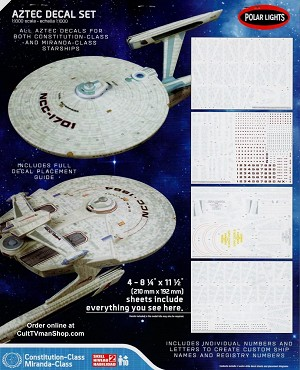 Enterprise/Reliant Aztec decals 1:1000 scale from Round 2/Polar Lights