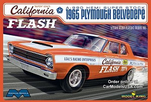 """Butch"" Leal's California Flash A-990 Hemi Super Stock 1965 Plymouth Belvedere - 1:25 from Model King/Moebius"
