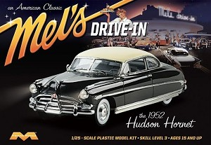 1952 Hudson Hornet Mel's Drive-In - 1:25 from Moebius Models SCRATCH AND DENT