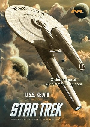 USS Kelvin - Star Trek (2009) 1:1000 scale from Moebius