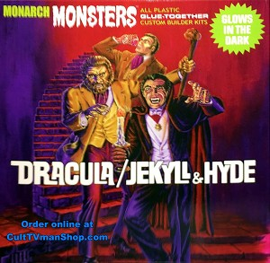 Dracula/Jekyll & Hyde 1:13 scale glow kits from Monarch Models