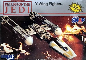 Y-Wing 1:95 scale - vintage 1984 from MPC - OPEN BOX KIT