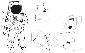 Astronaut decals 1:8 scale from New Ware