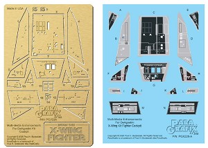 NEW:  DeAgostini X-Fighter cockpit detail set from Paragrafix