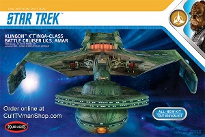 Klingon K't'inga 1:350 scale from Polar Lights/Round 2 - $84.95 - PREORDER RESERVATION