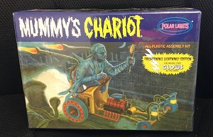 Mummy's Chariot Glow Kit from Polar Lights  SMALL BOX version