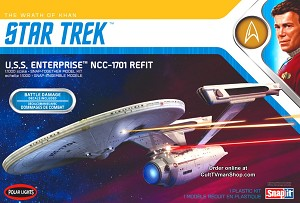 U.S.S. Enterprise Refit  Wrath of Khan Edition (2020) 1:1000 scale from Round 2/Polar Lights