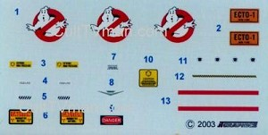Ecto-1 Decals from JTGraphics