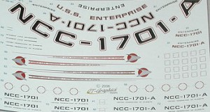 Refit Starship 1/350 scale replacement decals from JTGraphics