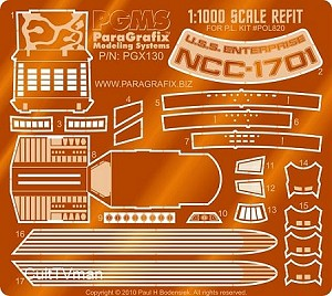 Refit 1:1000 photoetch detail set from Paragrafix