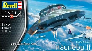 Haunebu II German Flying Saucer 1:72 scale from Revell-Germany