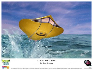 The Flying Sub Box Art Print by Ron Gross