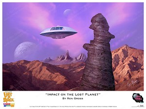 Impact on the Lost Planet - Lost in Space Art Print by Ron Gross