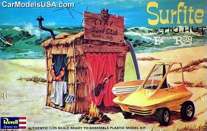 Ed Roth's Surfite and Tiki Hut 1:25 reissue from Revell